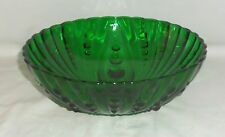 "Anchor Hocking BURPLE FOREST GREEN *8 1/2"" LARGE BERRY BOWL*"