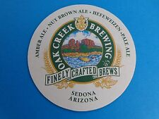 Beer Coaster: OAK CREEK Brewing Finely Crafted Brews, Pale Ale ~ Sedona, ARIZONA