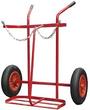 16'' PNUEMATIC TYRE TWIN OXYGEN & ACETYLENE CYLINDER GAS TROLLEY FULL SIZE