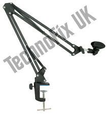 Boom arm angle-poise for Heil & other studio microphones - desk mounted