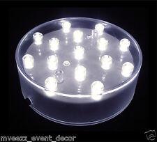 VASO base e LUMINATOR Bianco LED Luce nozze evento componente fondamentale delle parti