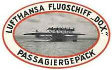Lufthansa Airlines (Flugschiff)    Vintage-Looking   Sticker/Decal/Luggage Label