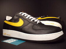 2003 Nike Air Force 1 Low LE BLACK UNIVERSITY GOLD YELLOW WHITE 306353-071 DS 13