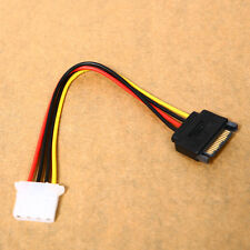 Male Power Cable to Molex IDE 4-pin Female Power Drive Adapter SATA 15-pin