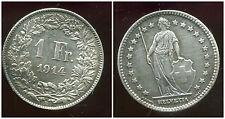 SUISSE 1 franc  1914   ARGENT SILVER