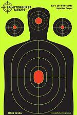 """NEW 25 Pack Fluorescent, Reactive Target Practice Paper Shooting Range 12""""x 18"""""""