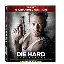 Die Hard:5-Movie Collection(Blu-ray Set)New 2 WITH VENGEANCE LIVE FREE GOOD DAY