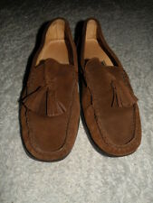 NICE! Cole Haan Men's Brown Suede Driving Shoes Loafer With Tassel Size 11 D