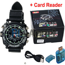 HD 1080P IR Night Vision 16GB Waterproof Watch Camera SPY DVR Camcorders Cam EAP