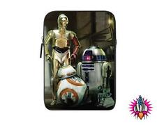 "OFFICIAL STAR WARS R2 D2  C3 P0 DROIDS NEOPRENE 8"" TABLET IPAD MINI COVER CASE"