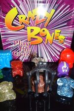 16 Gogos Crazy Bones Sparklly Caged Clear 6 Large &  A Ltd Edition Collector Tin