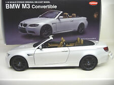 Kyosho 1:18 BMW M3 Convertible E93 pearl white  FREE SHIPPING Worldwide