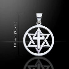 Cross Star of David .925 Sterling Silver Pendant by Peter Stone