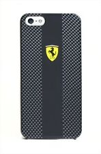 Scuderia Ferrari Carbon Back Cover Case for iPhone 5 / 5s / SE (Black) FECBP5BL