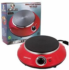 Die Cast Iron Electric Portable Hot Plate Single Burner 1000-W Adjustable Temp