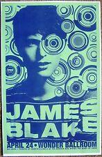 JAMES BLAKE 2013 Gig POSTER Portland Oregon Concert