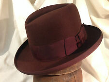 Fedora Knox Twenty Chocolate Brown Vintage Hat Homburg gem of a classic 7