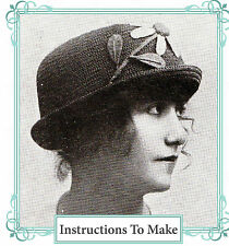 Vintage Downton Abbey era Crochet pattern-how para hacer este 1915 Flor Sombrero
