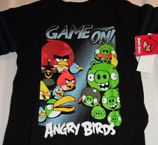Angry Birds 100% Cotton Short Sleeve T Tee Shirt Toddler Boys 4T Black Game On