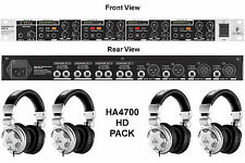 BEHRINGER HA4700 HPX2000 HD PACK HEADPHONES RACKMOUNT AMP $10 INSTANT OFF STUDIO