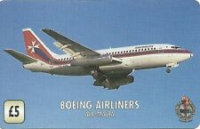 RARE / CARTE TELEPHONIQUE - AVION BOEING AIRLINERS AIR MALTA / PAPER PHONECARD