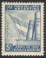 Argentina 1943 National Book Fair/Books/Literature/Printing/Flag 1v (n44497)