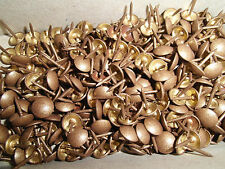 200 Ziernägel/Polsternägel in Altgold gefleckt , 10 mm im Durchmesser