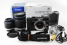 Olympus E-PL1S 12.3 MP Digital Camera Kit w/ 2lens: 14-42mm & 40-150mm No-0113