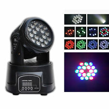 LED  Moving Head Beam light 18x3W RGB Wash La lampada party fas stage light
