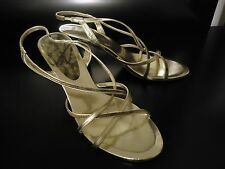 Nine West Gold Metallic Sexy Party Dressy Dress Shoes Sandals 10 $65
