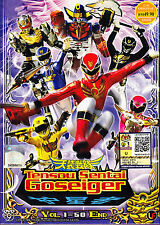 Tensou Sentai Goseiger DVD (Eps : 1 - 50 end) with English Subtitle