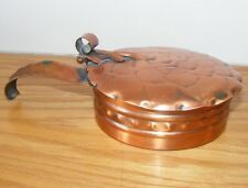 Gregorian Solid Copper Silent Butler Ash Collector Ashtray Lid