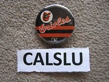 "VINTAGE 1980's BALTIMORE ORIOLES *RARE* 1 1/4"" BASEBALL BUTTON PIN BACK"