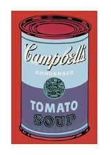 Andy Warhol Campbell's Soup Can blue & purple Poster Bild Kunstdruck 36x28cm