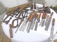 Victorian Heritage woodworking Shipwright chisels clamps boat builder tools