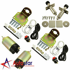 New 80 Pound Shaved Door Handle Trunk Solenoid Kit With 2 Door Popper Street Rod