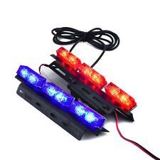 2X 12 LEDs Car Police Strobe Flash Light Dash Emergency Warning Flashing