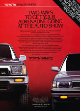 1989 Toyota Cressida and Truck - Classic Vintage Car Advertisement Ad J34