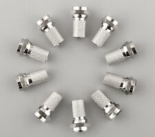 10Pcs F-Type F Screw-On Coaxial RG6 Cable Connector Plug Aerial Sky SATELLITE TV