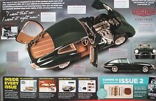 BUILD THE JAGUAR E-TYPE.REPLICA 1:8 SCALE KIT ISSUE NO 1.LEATHER SEATS,LIGHTS
