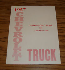 1957 Chevrolet Truck Wiring Diagram Manual for Complete Chassis 57 Chevy