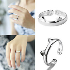 Adjustable Cute Cat Ears Open Ring Woman Fashion Party Wedding Jewellery Gift