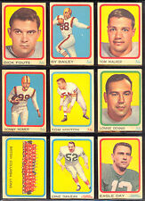 1963 TOPPS CFL FOOTBALL PARTIAL CARD SET LOT 64/88 EX-NM DON GETTY KEN PLOEN DAY