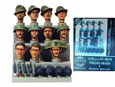 q Model Victoria 4018 - Scala 1/35 - Testoline Italiane - SET 2 (1940-1943)