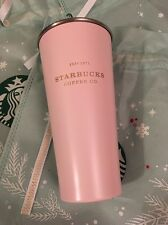Starbucks Korea 2016 Christmas Snow Soft Pink To Go Heritage Tumbler 473ml Lmtd