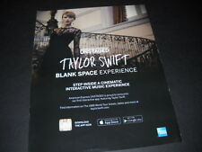 TAYLOR SWIFT is UNSTAGED ...step inside... 2014 PROMO POSTER AD mint condition