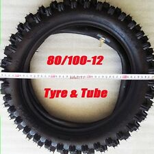"80/100-12 3.00- 12"" Rear Back Knobby Tyre Tire + Tube PIT PRO Trail Dirt Bike US"