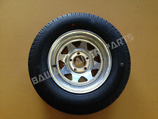 """GALVANISED 14"""" MULTI- FIT FORD/HT RIM WITH 185 LT TYRE ! Trailer Parts"""
