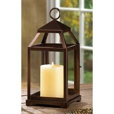 6  BRONZE RUSTIC CONTEMPORARY CANDLE HOLDER LANTERN TABLE CENTERPIECES NEW~14126