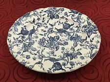 BILTONS England Blue White Peacock Platter Ravensdale Pottery Staffordshire NWT